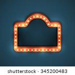 retro blank american electric... | Shutterstock .eps vector #345200483
