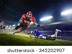 american football players in... | Shutterstock . vector #345202907