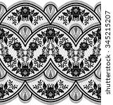 lace black seamless pattern... | Shutterstock .eps vector #345215207