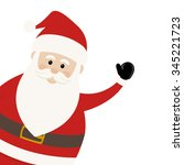 lovely santa claus | Shutterstock .eps vector #345221723