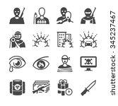 terrorism icons | Shutterstock .eps vector #345237467