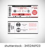 football ticket card modern...   Shutterstock .eps vector #345246923