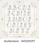 vector elegant mono line... | Shutterstock .eps vector #345269297