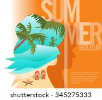 summer holiday   double... | Shutterstock .eps vector #345275333