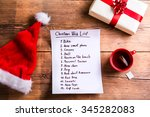 christmas composition with... | Shutterstock . vector #345282083