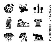 set of italy freehand icons  ... | Shutterstock .eps vector #345286103