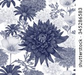 vector seamless pattern with... | Shutterstock .eps vector #345286583