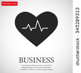the heart and cardiogram icon.... | Shutterstock .eps vector #345289313