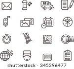 post service set of outline... | Shutterstock .eps vector #345296477
