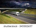truck transportation on the... | Shutterstock . vector #345302657