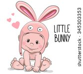 cute cartoon baby boy in a...   Shutterstock .eps vector #345303353