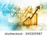 economical stock market graph | Shutterstock . vector #345305987