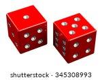 pair of dice   easy six ... | Shutterstock . vector #345308993