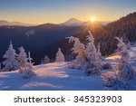 Winter Landscape. Sunrise In...