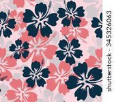 summer camouflage hawaiian... | Shutterstock .eps vector #345326063