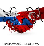russia turkey conflict creative ...   Shutterstock .eps vector #345338297