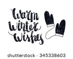 vector christmas winter... | Shutterstock .eps vector #345338603
