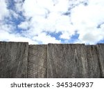 Small photo of Clouds above and beyond old wooden fence (put a fence between data and the cloud)