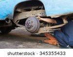 professional car mechanic... | Shutterstock . vector #345355433
