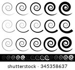 abstract spiral set