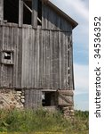 Grey Wisconsin Barn With Field...