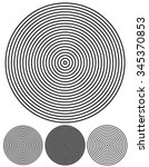 concentric circle elements. set ... | Shutterstock .eps vector #345370853