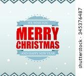 merry christmas background. | Shutterstock .eps vector #345376487