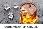 Small photo of Glass with alcoholic drink