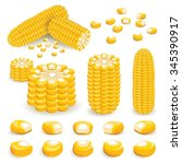 corn vector | Shutterstock .eps vector #345390917