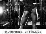 fitness girl in the gym | Shutterstock . vector #345403733
