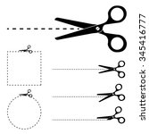 the scissors icon. cut here...   Shutterstock .eps vector #345416777