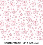 christmas seamless pattern with ... | Shutterstock .eps vector #345426263