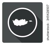 cyprus map dark sign icon....