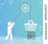 welcome winter design  vector... | Shutterstock .eps vector #345431927
