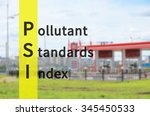 acronym psi as pollutant... | Shutterstock . vector #345450533