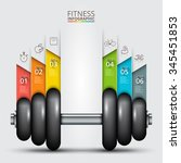 fitness statistics and... | Shutterstock .eps vector #345451853