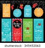 vector christmas party... | Shutterstock .eps vector #345452063