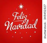 merry christmas card template... | Shutterstock .eps vector #345452327