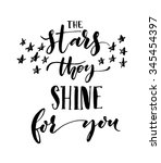 the stars they shine for you... | Shutterstock .eps vector #345454397