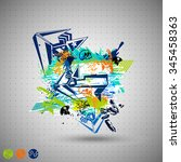 abstract colored vector... | Shutterstock .eps vector #345458363