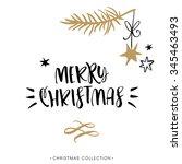 merry christmas  christmas... | Shutterstock .eps vector #345463493