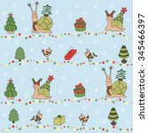 seamless vector pattern with... | Shutterstock .eps vector #345466397