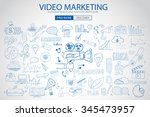 video marketing concept with...