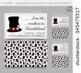 cards templates   hatter's hat... | Shutterstock .eps vector #345475517