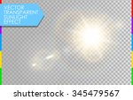 vector transparent sunlight... | Shutterstock .eps vector #345479567