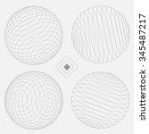 decorative sphere elements set... | Shutterstock .eps vector #345487217