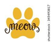 hand lettering typography... | Shutterstock .eps vector #345493817