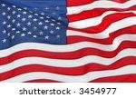 full frame of the us flag flying | Shutterstock . vector #3454977