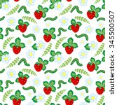 funny seamless vector  pattern... | Shutterstock .eps vector #345500507