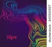 abstract rainbow lines design....   Shutterstock .eps vector #345503507
